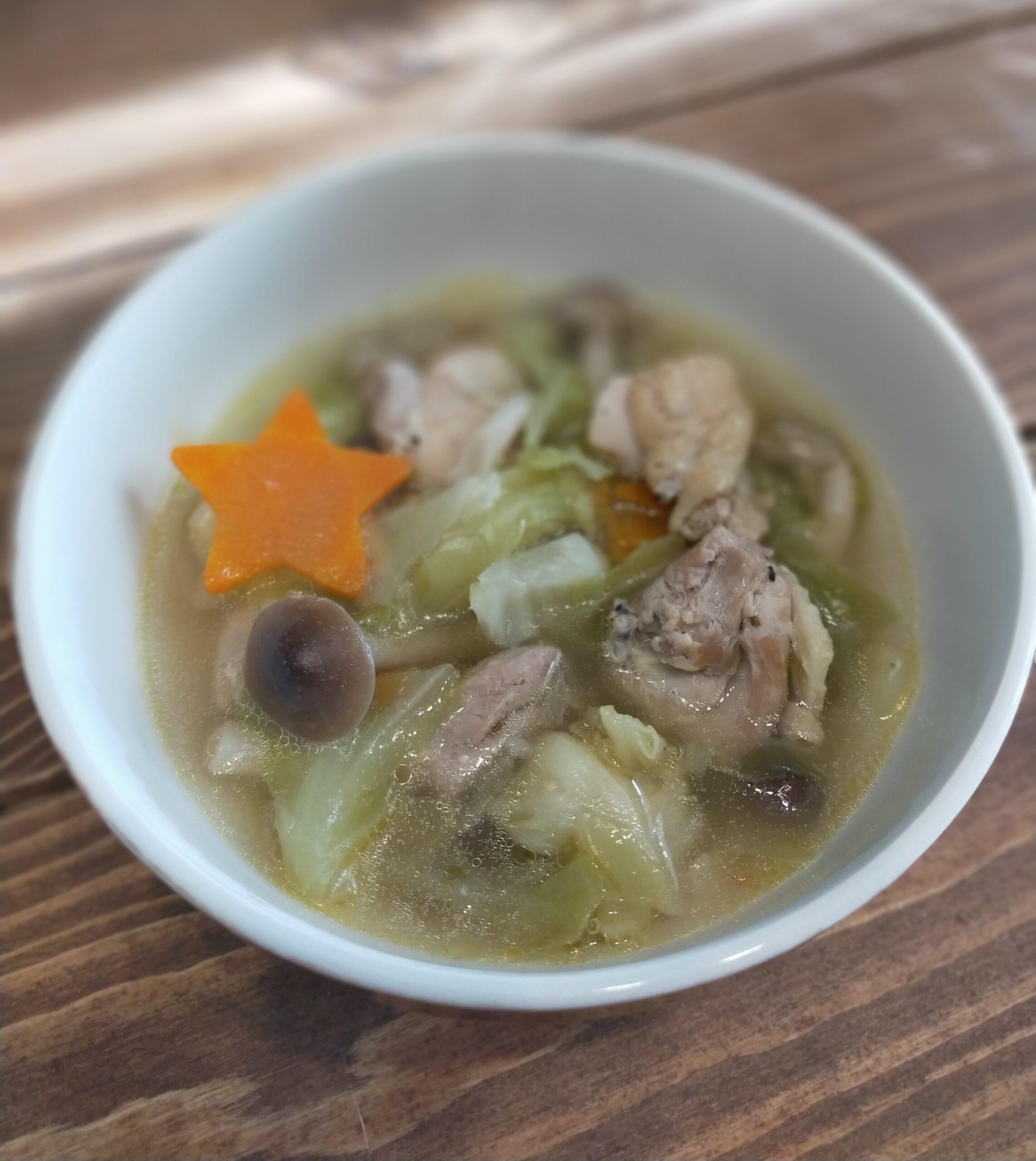 一品で栄養バランス満点のスープ♪